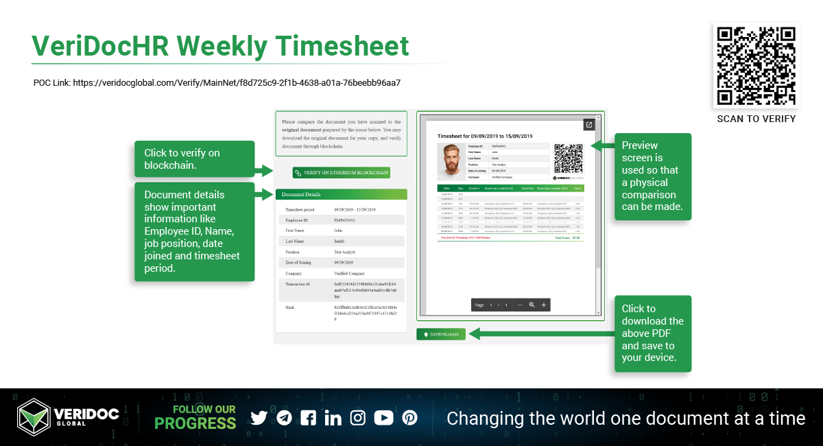 VeriDocHR-Weekly-Timesheet